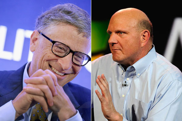 Bill Gates and Steve Ballmer.