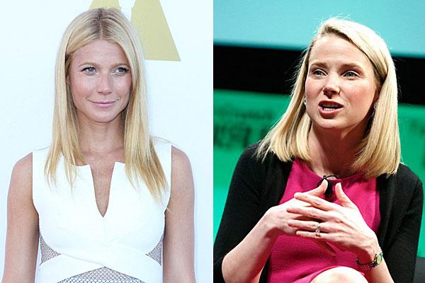 Gwyneth Paltrow and Yahoo! CEO Marissa Mayer.