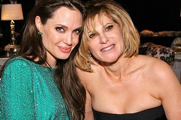 Angelina Jolie-Pitt with Amy Pascal. (AFP)