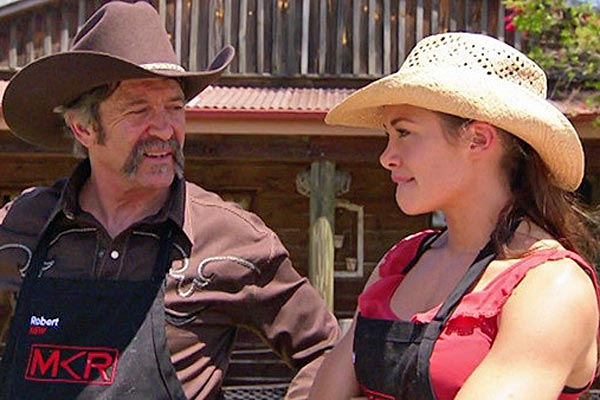 Robert Murphy with daughter Lynzey. (MKR/Seven)