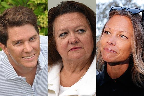 Family feud: John Hancock, Gina Rinehart and Bianca Rinehart