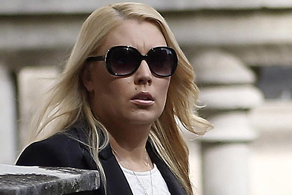 Former 2Day FM radio DJ Mel Greig leaves the Royal Courts of Justice in London, after the second day of an inquest into the death of Jacintha Saldhana in 2014. (AAP)