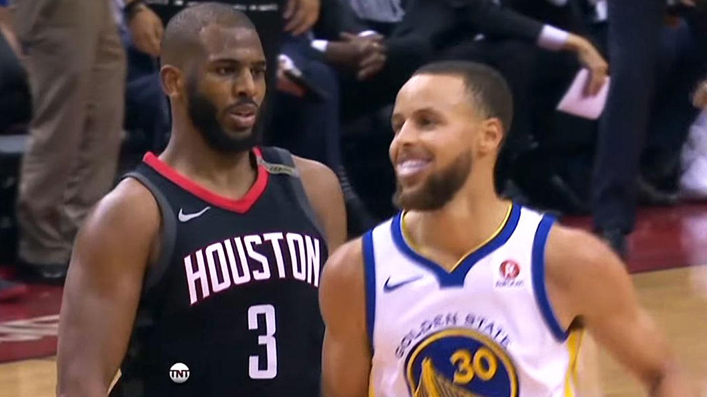 Chris Paul taunts Steph Curry