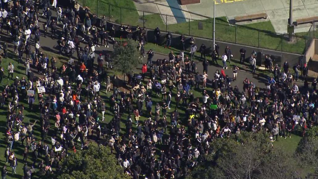 Lockdown protesters in Sydney.
