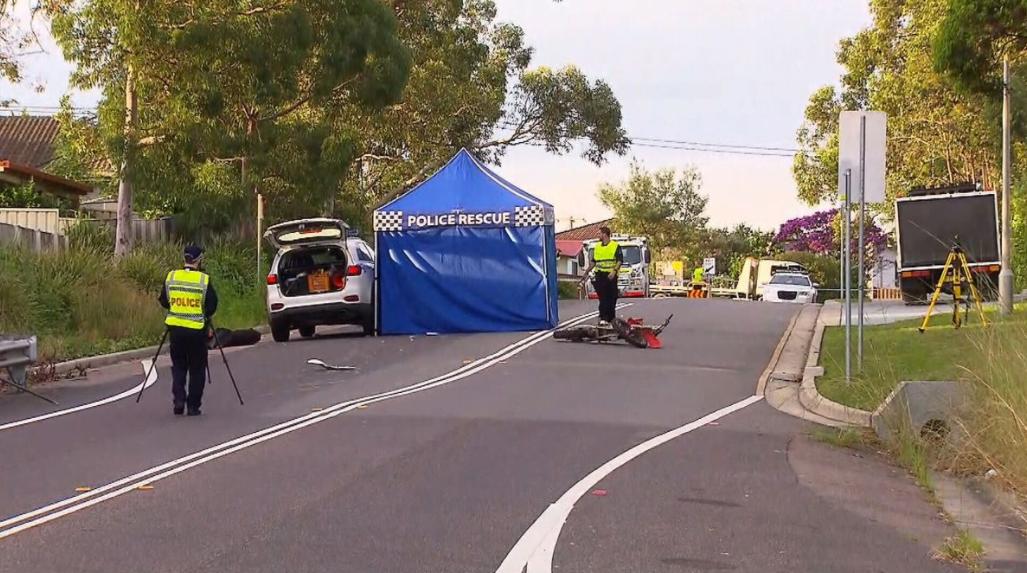 Tuggerah Lakes police motorcycle crash