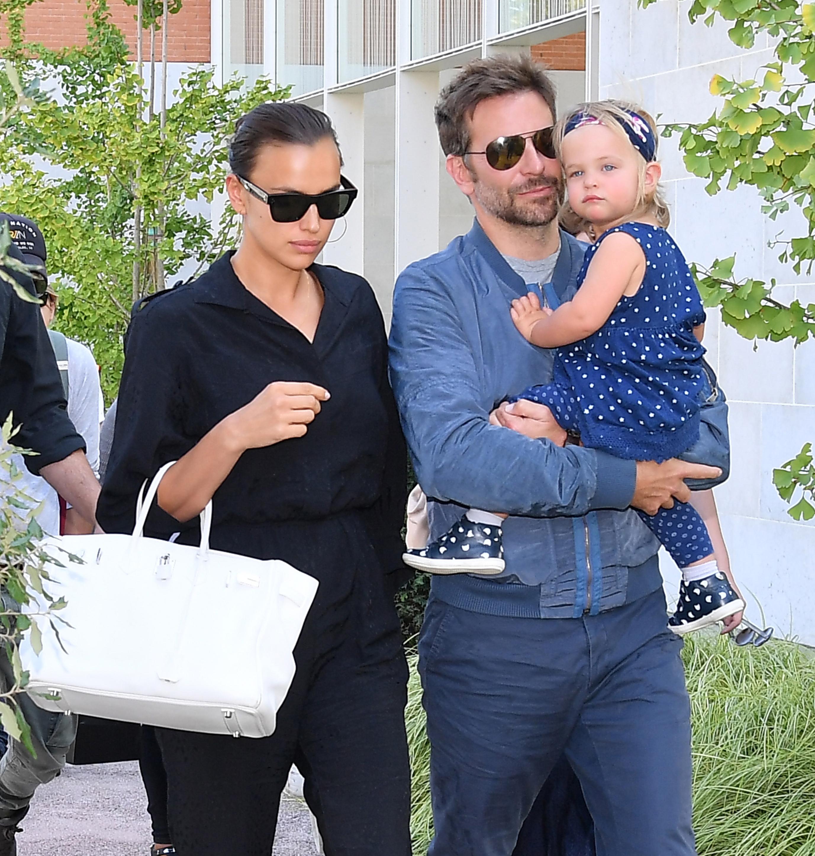 Bradley Cooper, Irina Shayk and daughter Lea