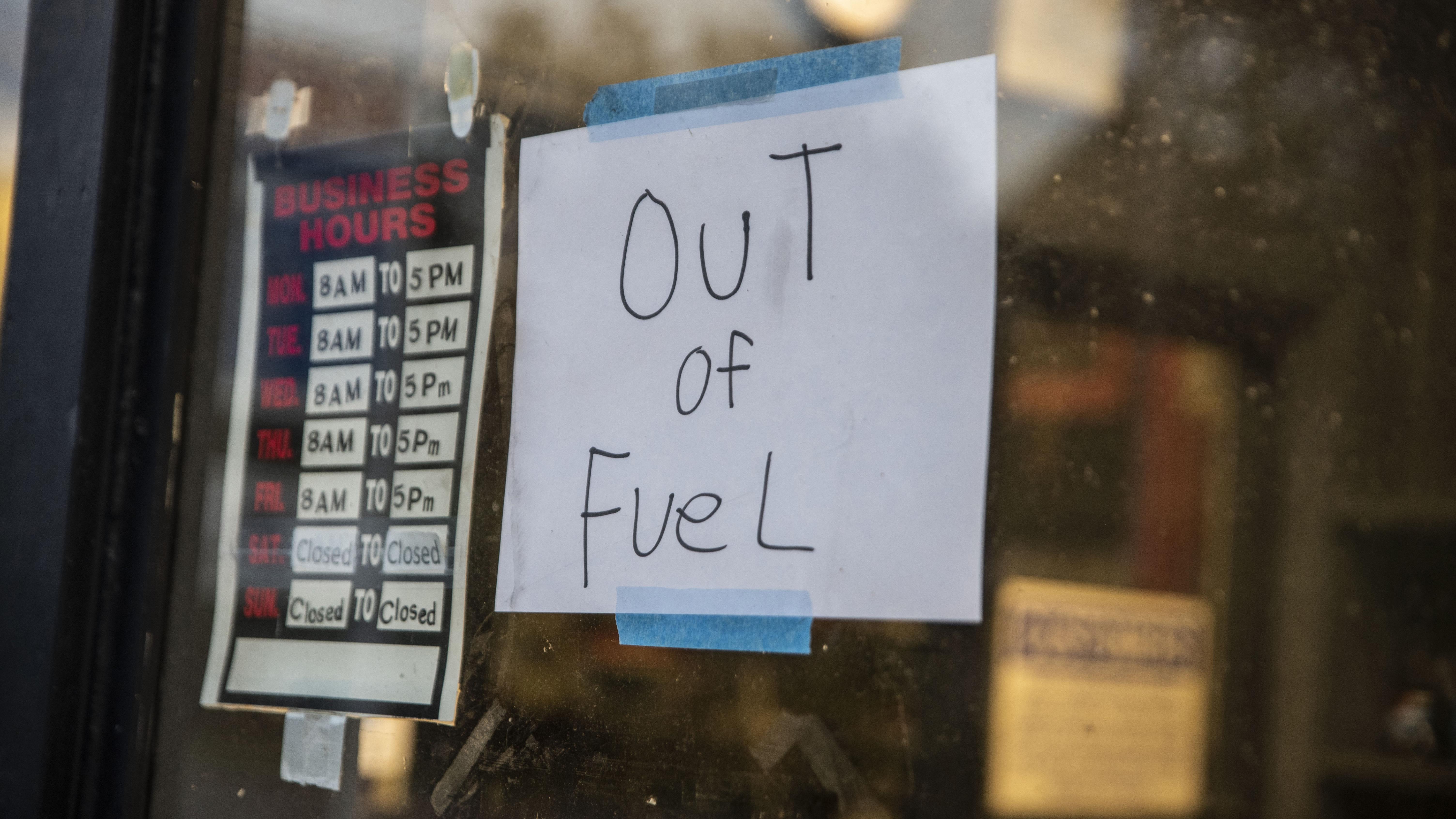 fuel shortage USA