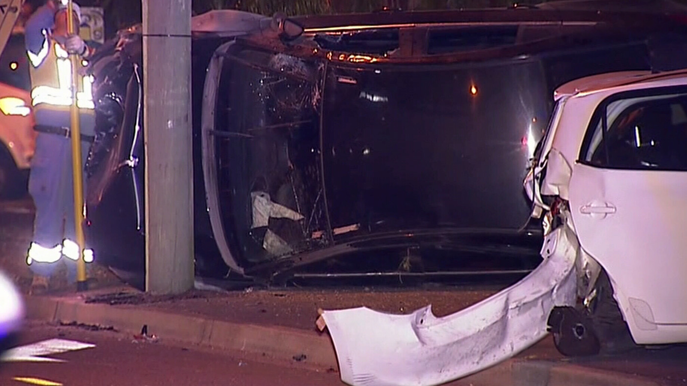 Four teens arrested after car crashes while evading police