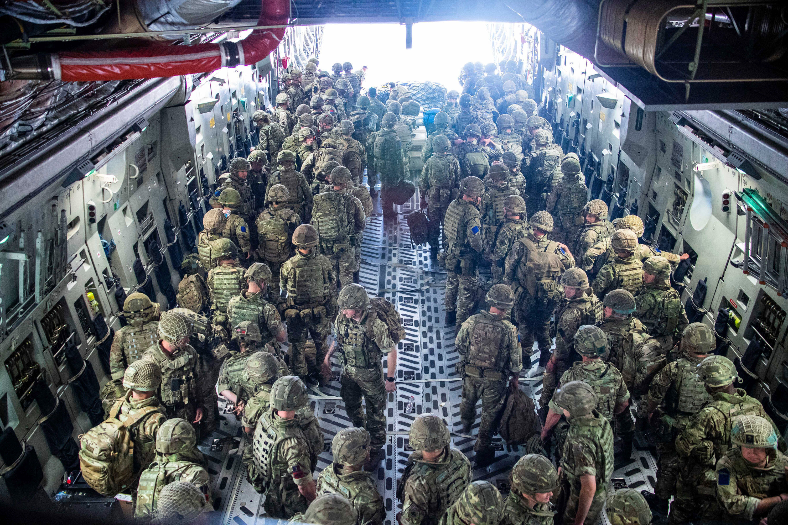 British soldiers arrive in Kabul to rescue British nationals in Afghanistan as the security situation worsens.