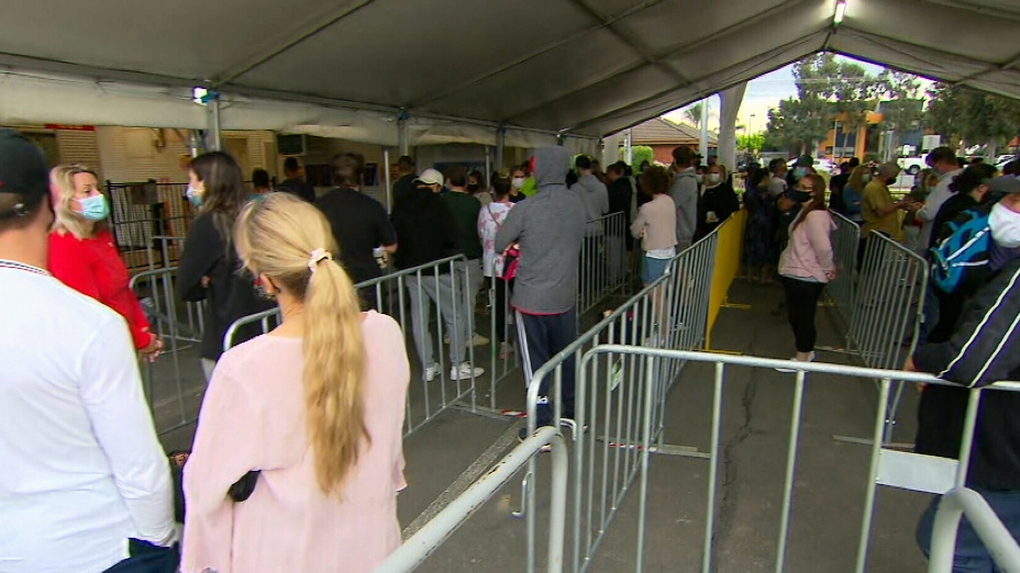 The testing centre at Shepparton Showground has already closed, after it reached its capacity of 300 people.