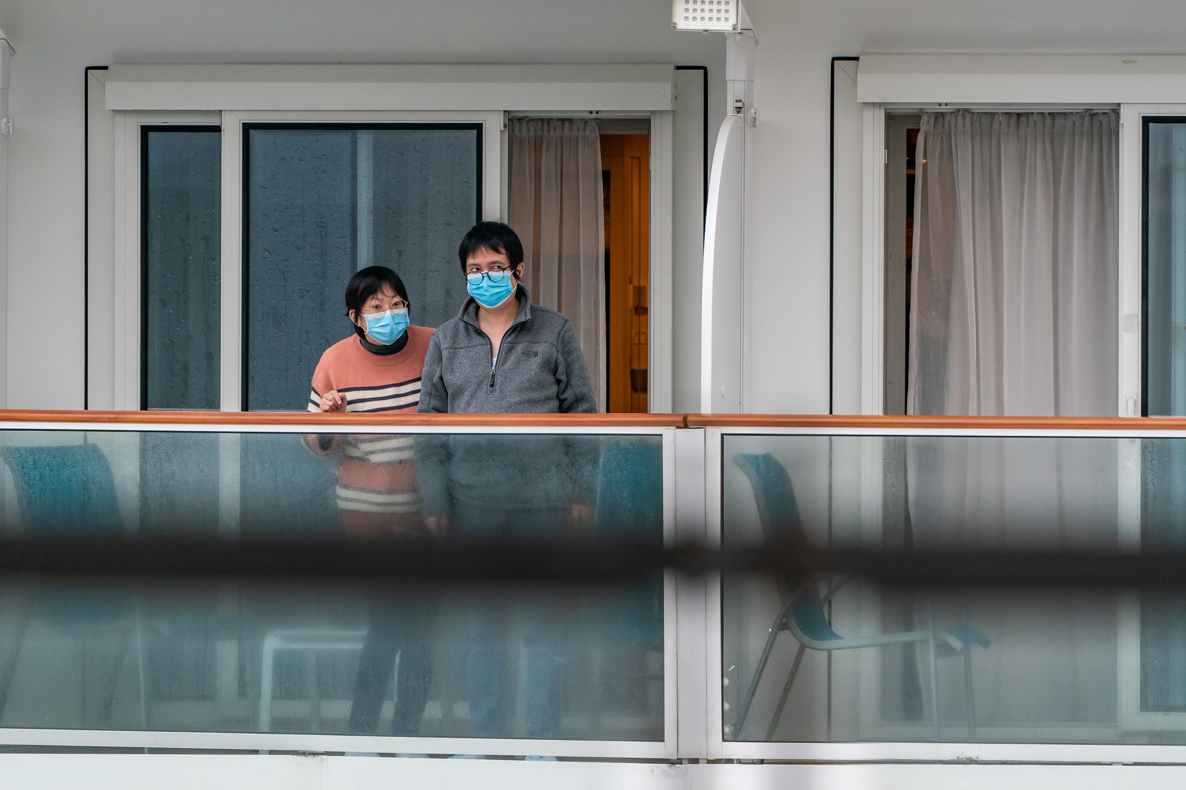 More than 3600 passengers and staff have been in quarantine for four days after three people returned positive tests for coronavirus.