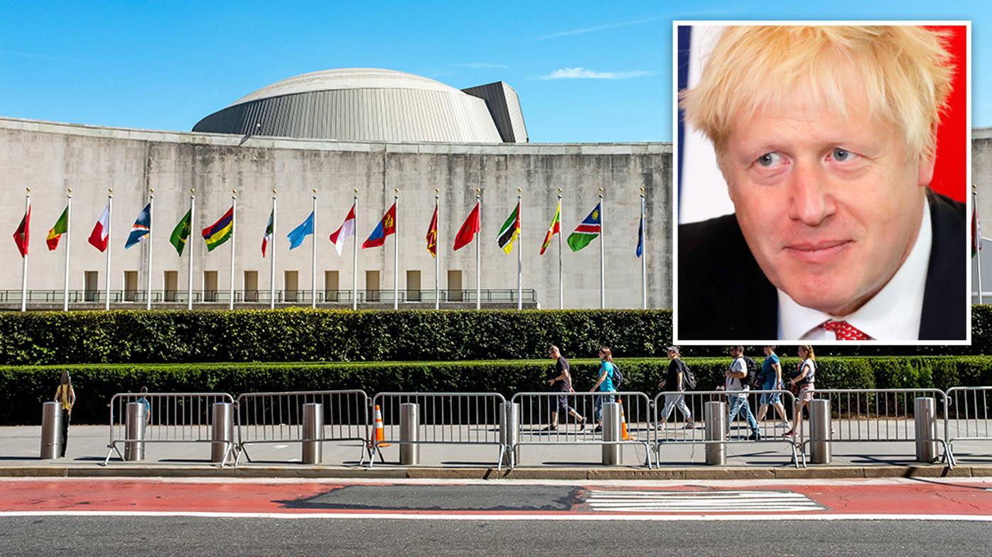 Boris Johnson heads to UN to argue for post-Brexit Britain