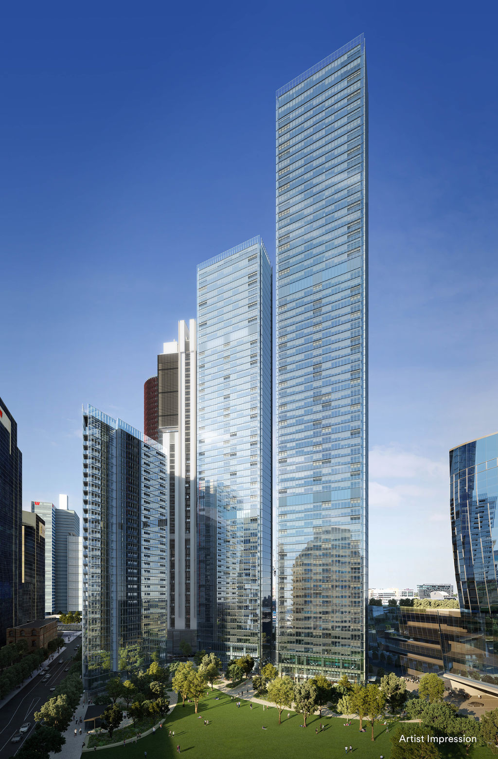 The apartment is nestled in the glitzy harbour-side precinct of Barangaroo.