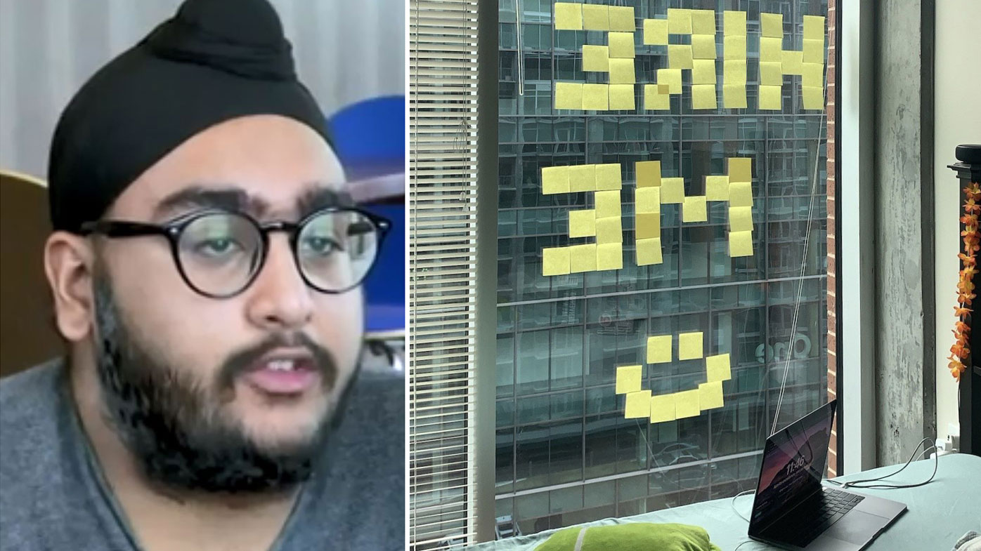 Student uses post-it notes to snag an internship