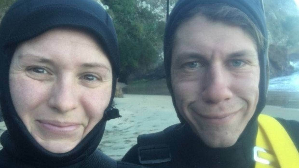 Rebecca Kinaston and Graham Johnson from Dunedin revived the phone and found the owner.