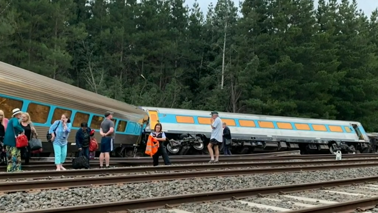 Train derailment in Victoria came after major delay on tracks