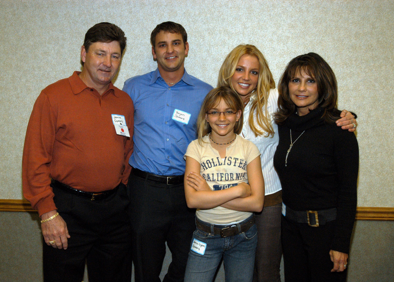 Jamie Spears, Bryan Spears, Jamie-Lynn Spears, Britney Spears and Lynne Spears