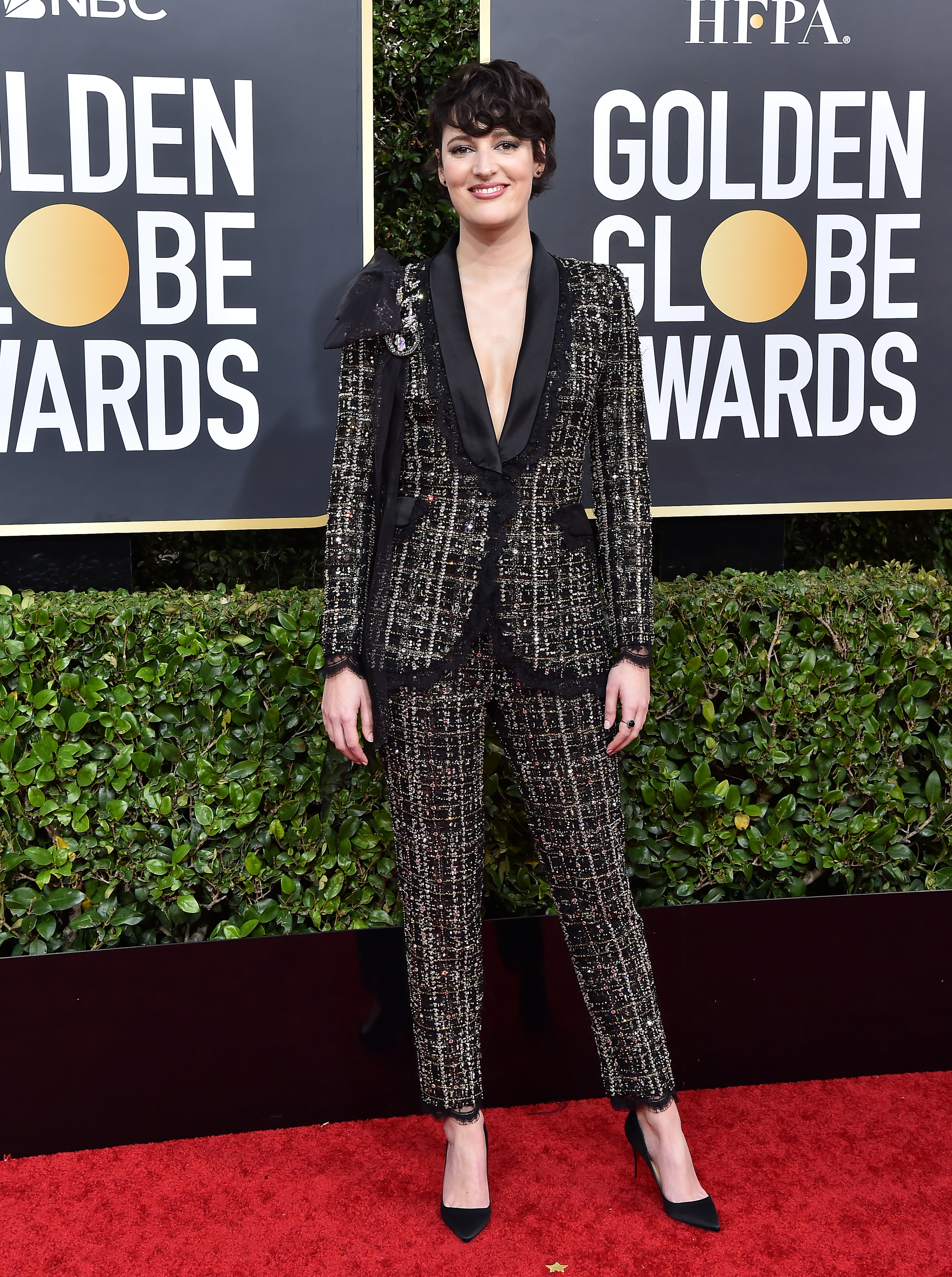 Phoebe Waller-Bridge attends the 77th Annual Golden Globe Awards at The Beverly Hilton Hotel on January 05, 2020 in Beverly Hills, California.