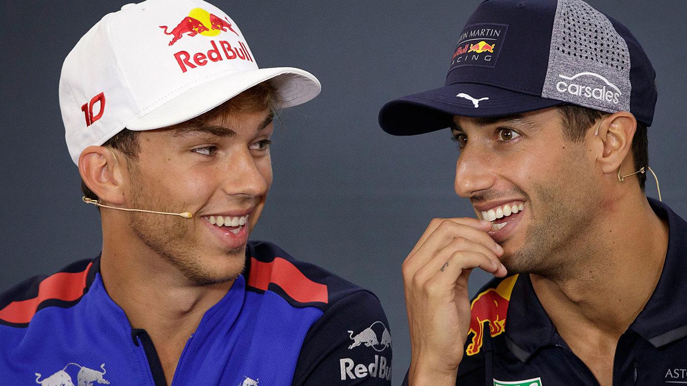 F1 Pierre Gasly Aston Martin Red Bull Racing Driver On Relationship With Daniel Ricciardo Renault