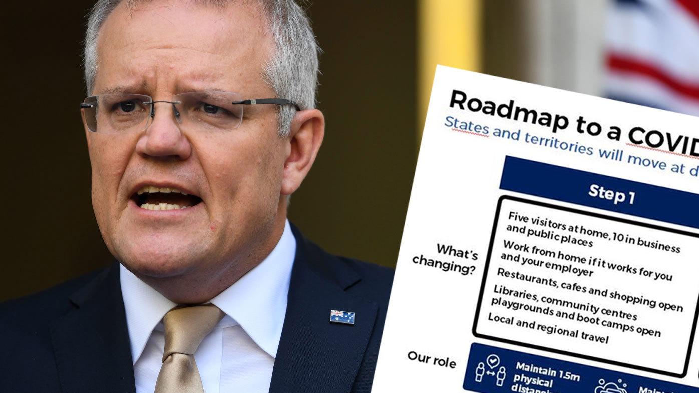 Prime Minister outlines three step plan to re-open Australia