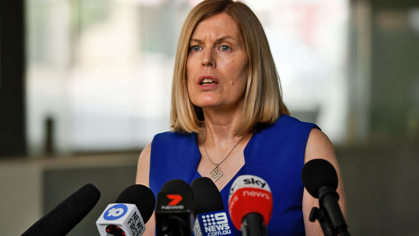 NSW Chief Health Officer Dr Kerry Chant speaks to the media during a press conference in Sydney, Friday, January 24, 2020.