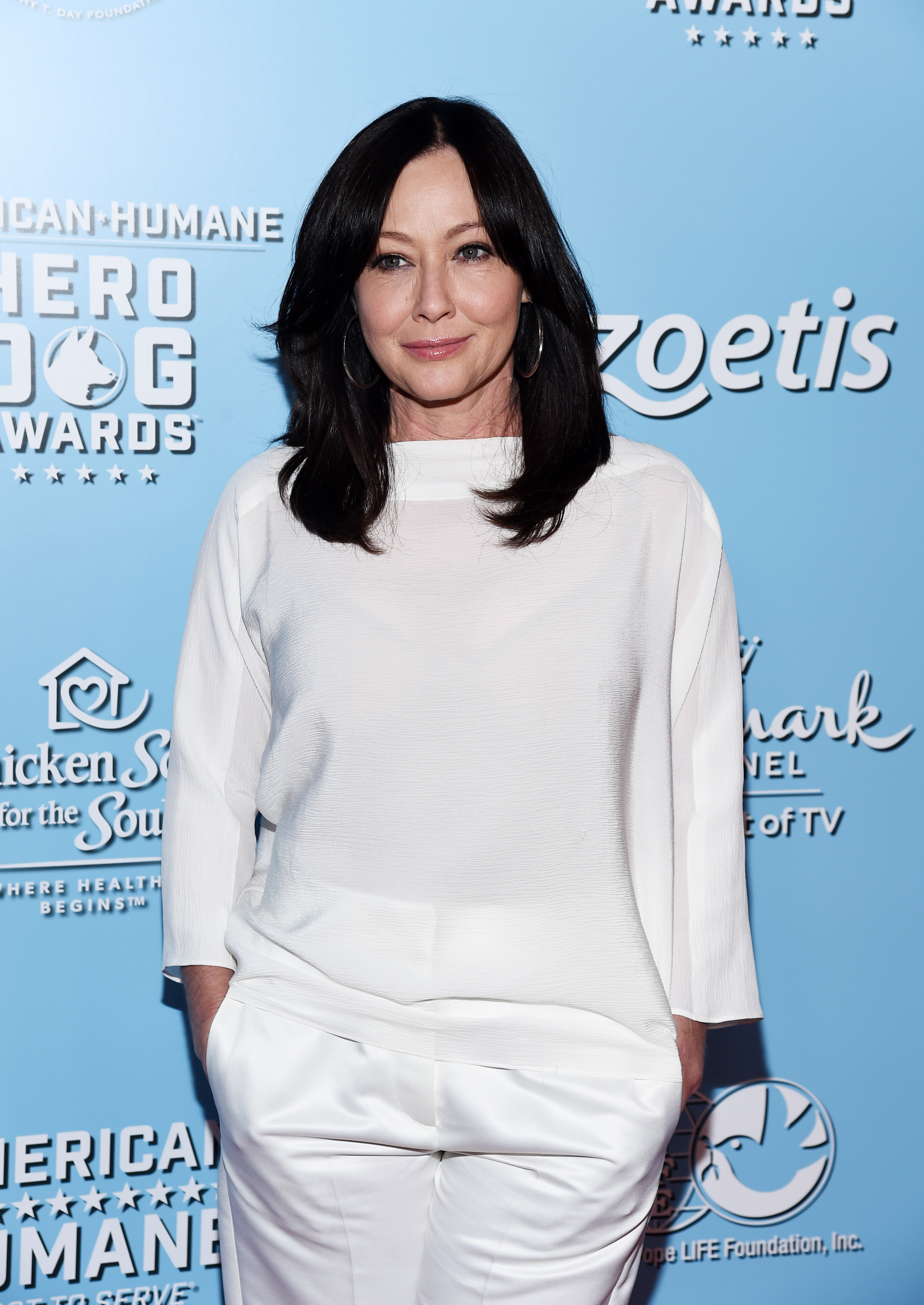 Shannen Doherty arrives at the 9th Annual American Humane Hero Dog Awards at The Beverly Hilton Hotel on October 05, 2019 in Beverly Hills, California.