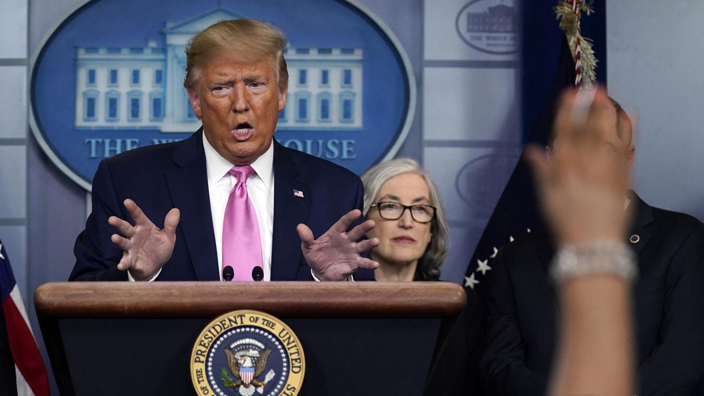 Donald Trump said some coronavirus patients 'just get the sniffles'.