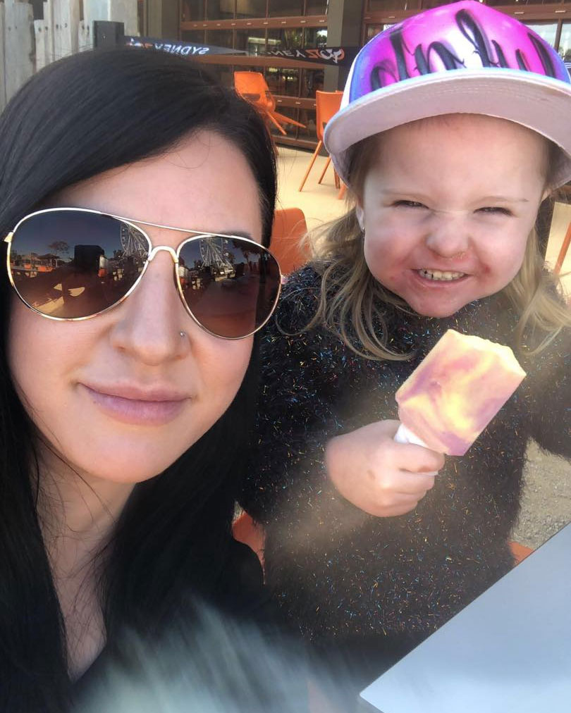 Lara Scott pictured with her daughter Lylah.