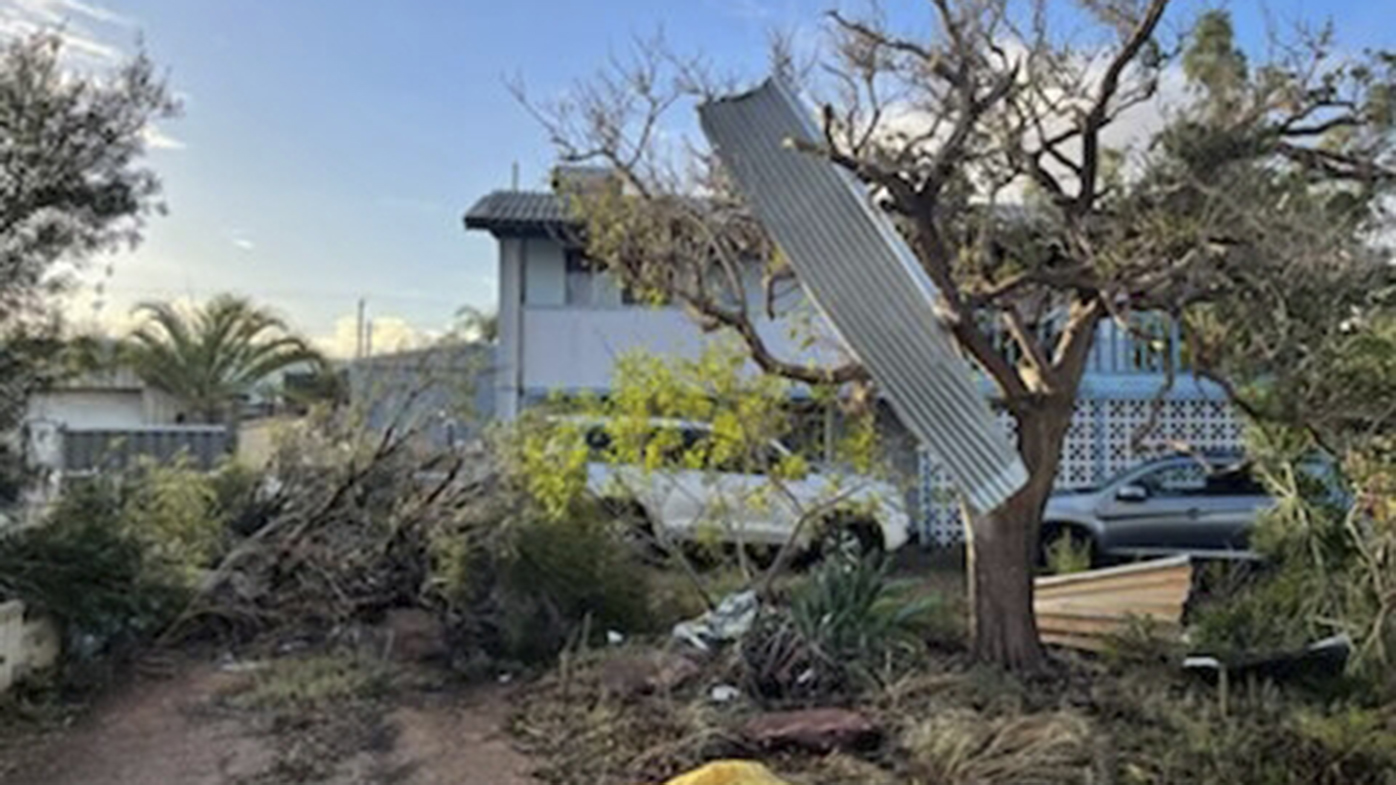 Seroja downed trees and tore roofs from homes in Kalbarri.
