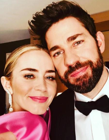 John Krasinski and wife Emily Blunt.