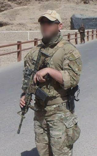 Former Australian soldier Shane Healy pictured on patrol in 2012, in southern Afghanistan - a part of the country he claims will welcome the rise of the Taliban.