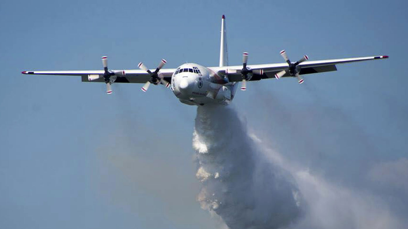 A Hercules C-130 water-bomber like the one which crashed in southern NSW.