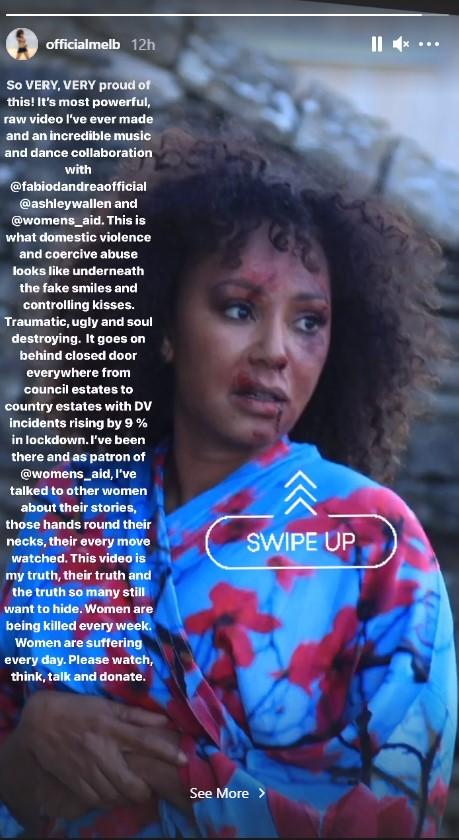 Mel B stars in domestic violence short film.