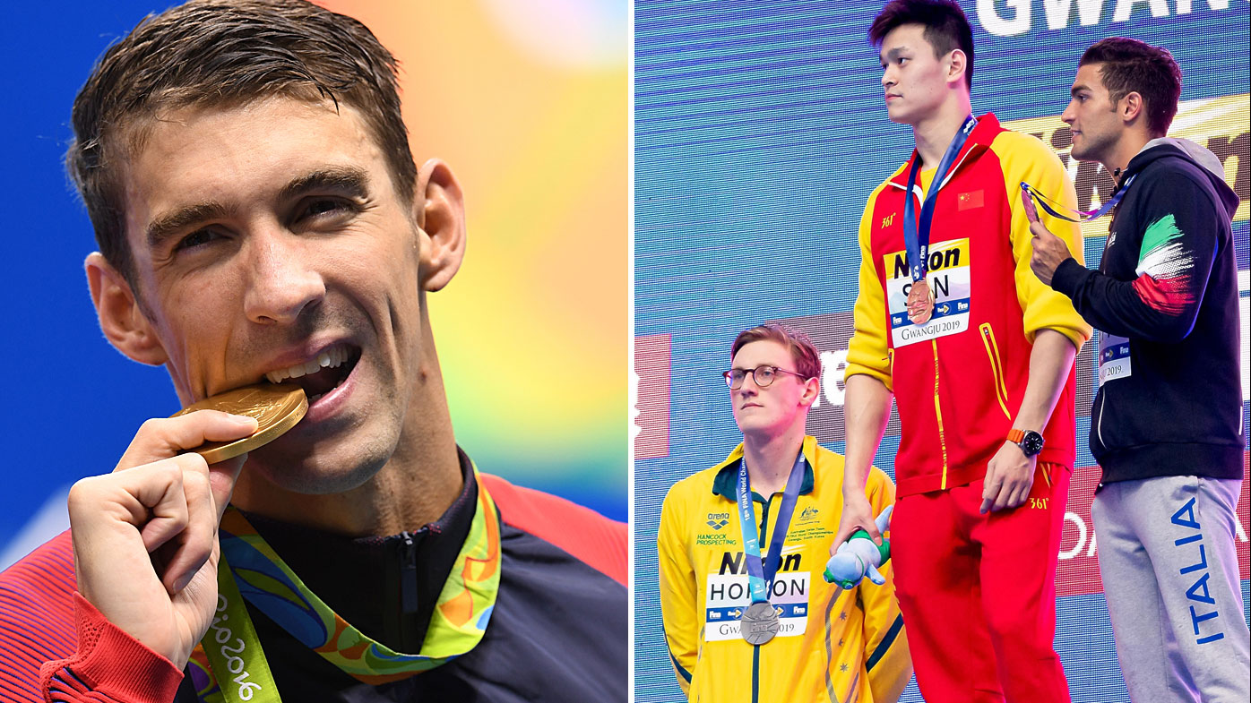 Michael Phelps has sided with Mack Horton on his Sun Yang protests