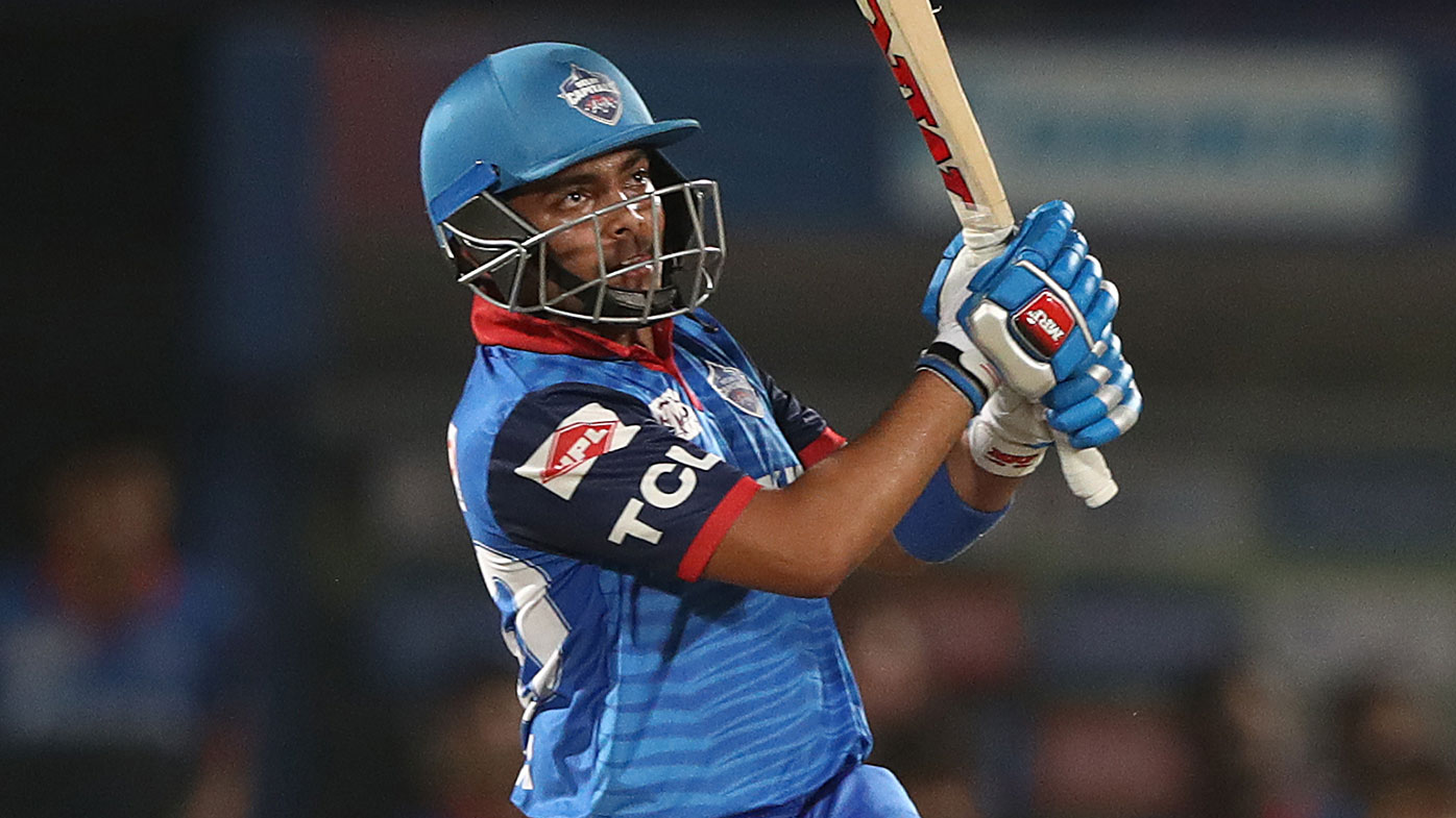 Prithvi Shaw of the Delhi Capitals bats during the Indian Premier League IPL Eliminator Final match between the Delhi Capitals and the Sunrisers Hyderabad at ACA-VDCA Stadium on May 08, 2019 in Visakhapatnam, India. (Photo by Robert Cianflone/Getty Images)