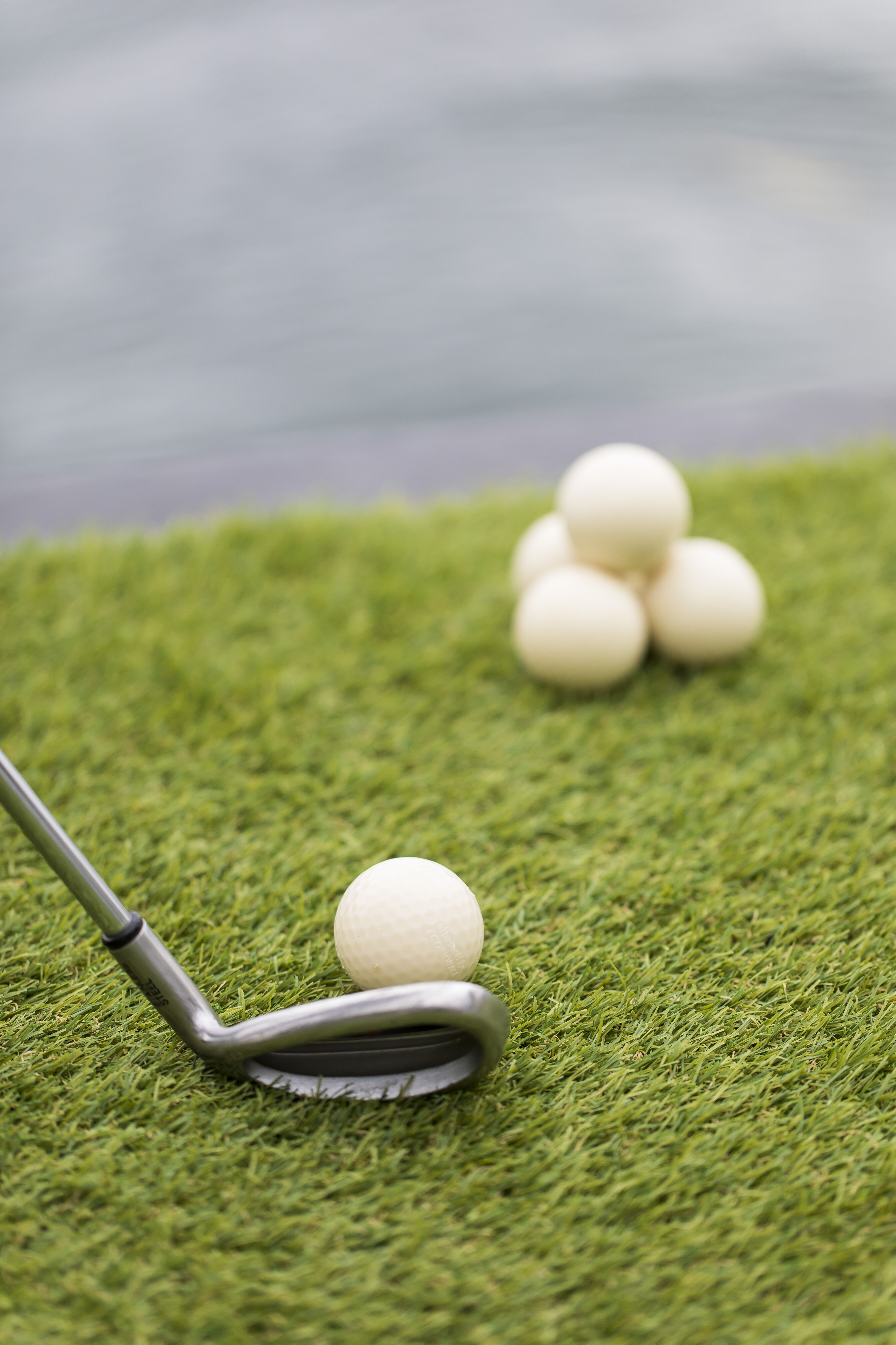 The golf balls used at Pier One Sydney Harbour are completely bio-degradable and full of fish food.