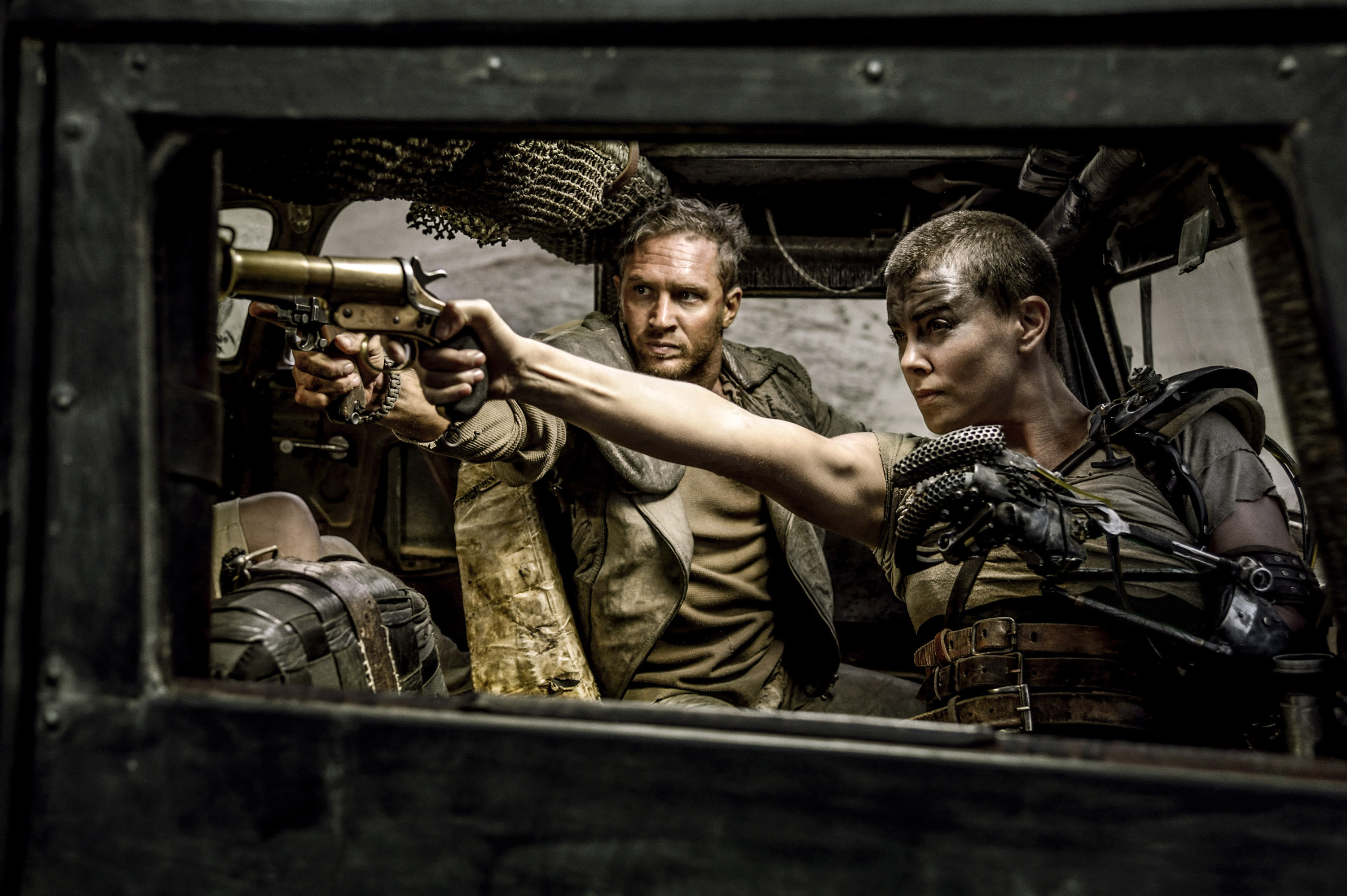 """Charlize Theron and Tom Hardy in George Miller's """"Mad Max: Fury Road"""""""