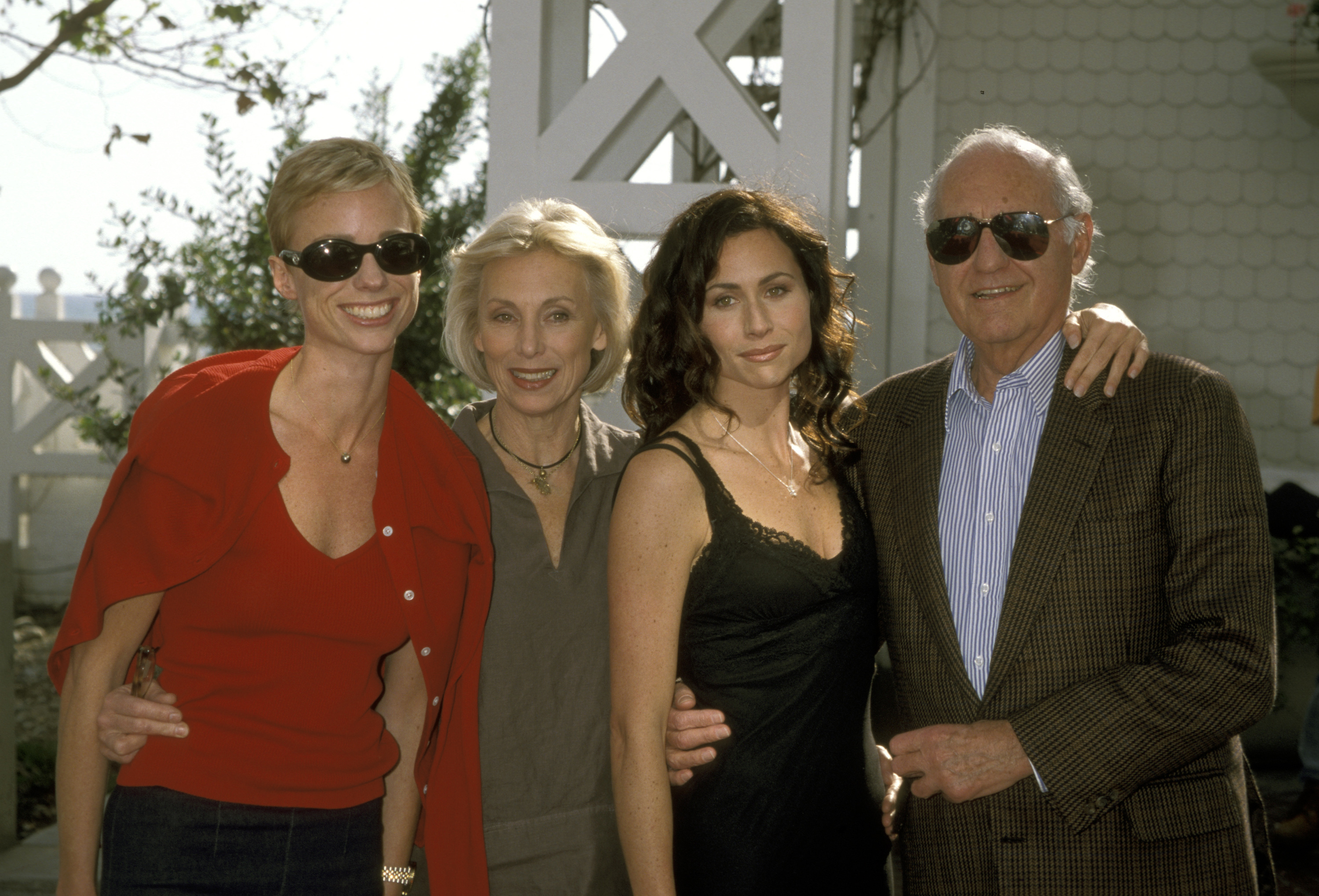 Minnie Driver, Sister Kate Driver, Mom Gaynor Driver, and Father Ronnie Driver.
