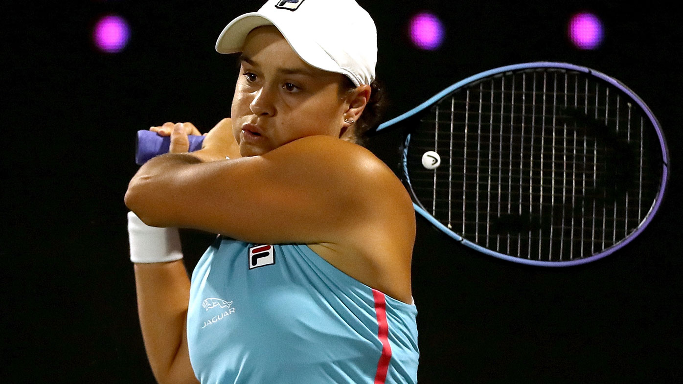 Ash Barty is ousted by Spain's Paula Badosa. (Getty)