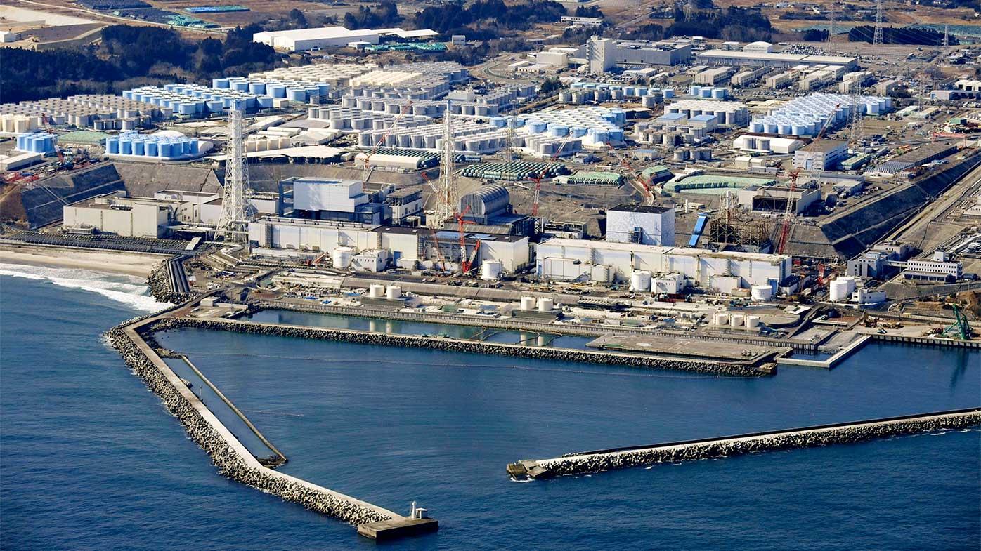 Fukushima Daiichi nuclear power plant in Okuma town.