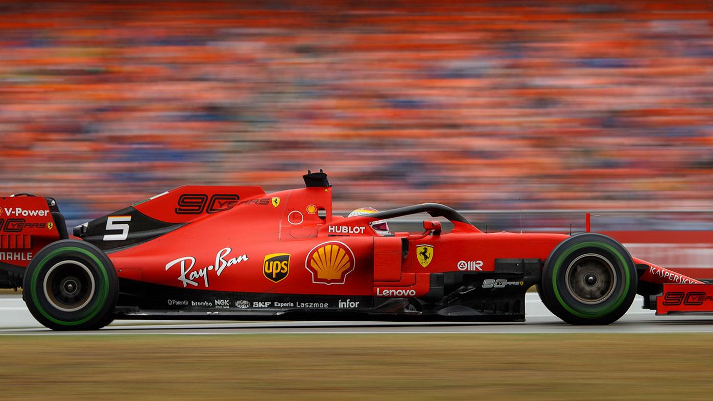 Sebastian Vettel finished second for Ferrari.