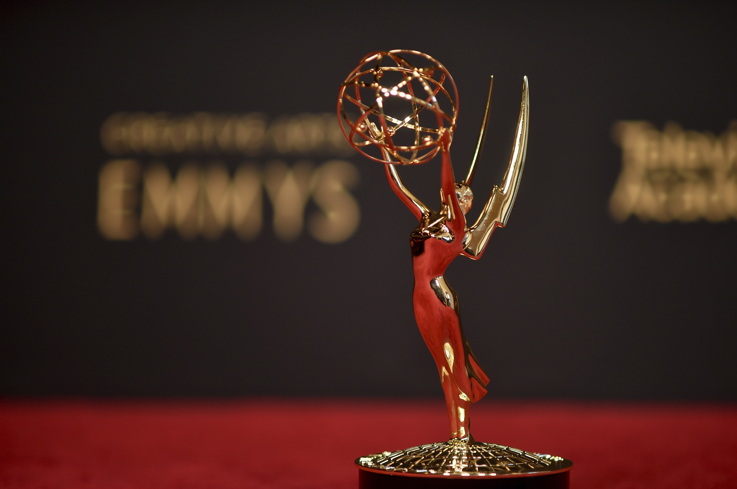 Emmy Statute from the Creative Emmy Awards, 2021.