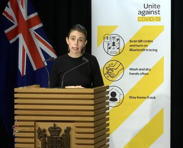NZ Prime Minister Jacinda Ardern.