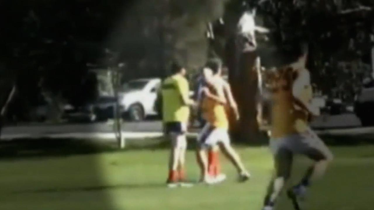 Adelaide amateur football on-field assault