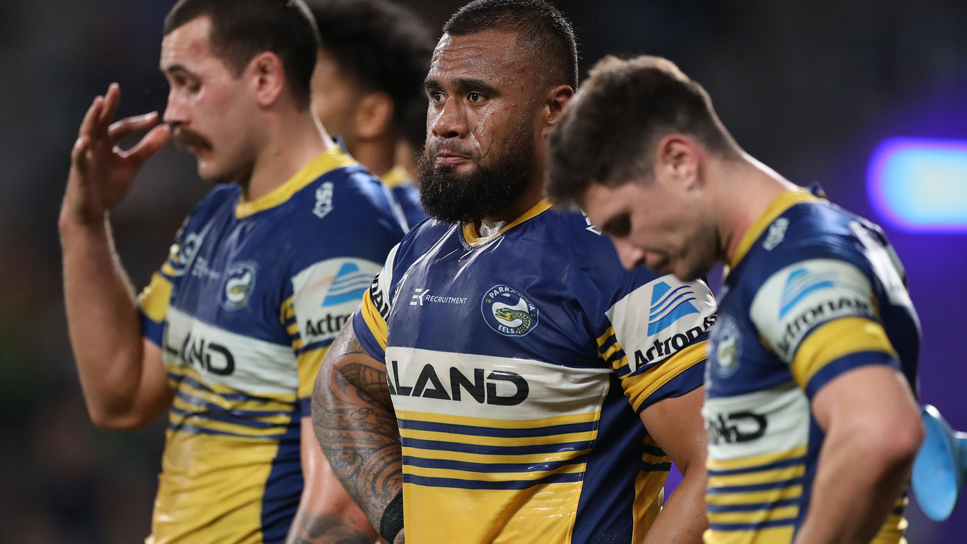 The Eels' season came to a crashing halt at the hands of the Rabbitohs on Saturday night. (Getty)