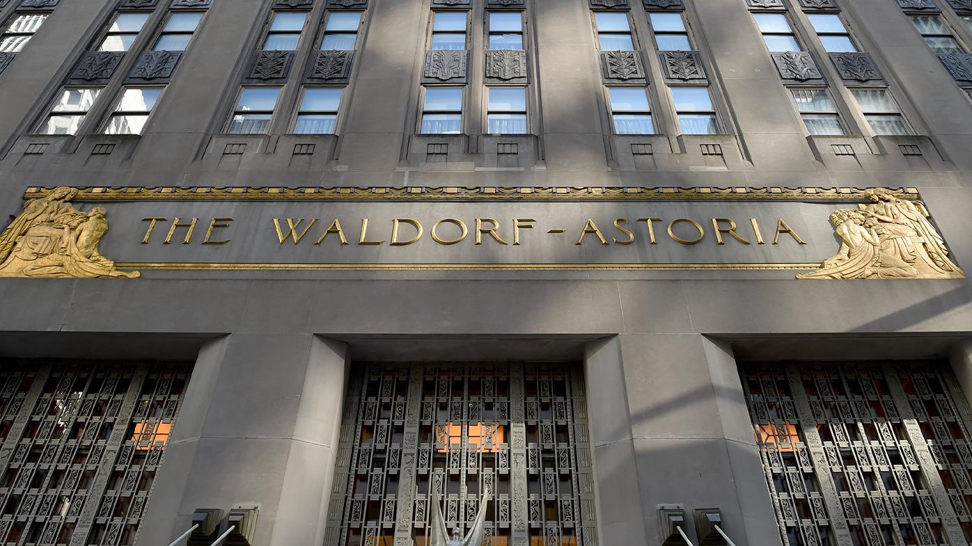The Waldorf Astoria hotel is on Park Avenue in Midtown Manhattan.