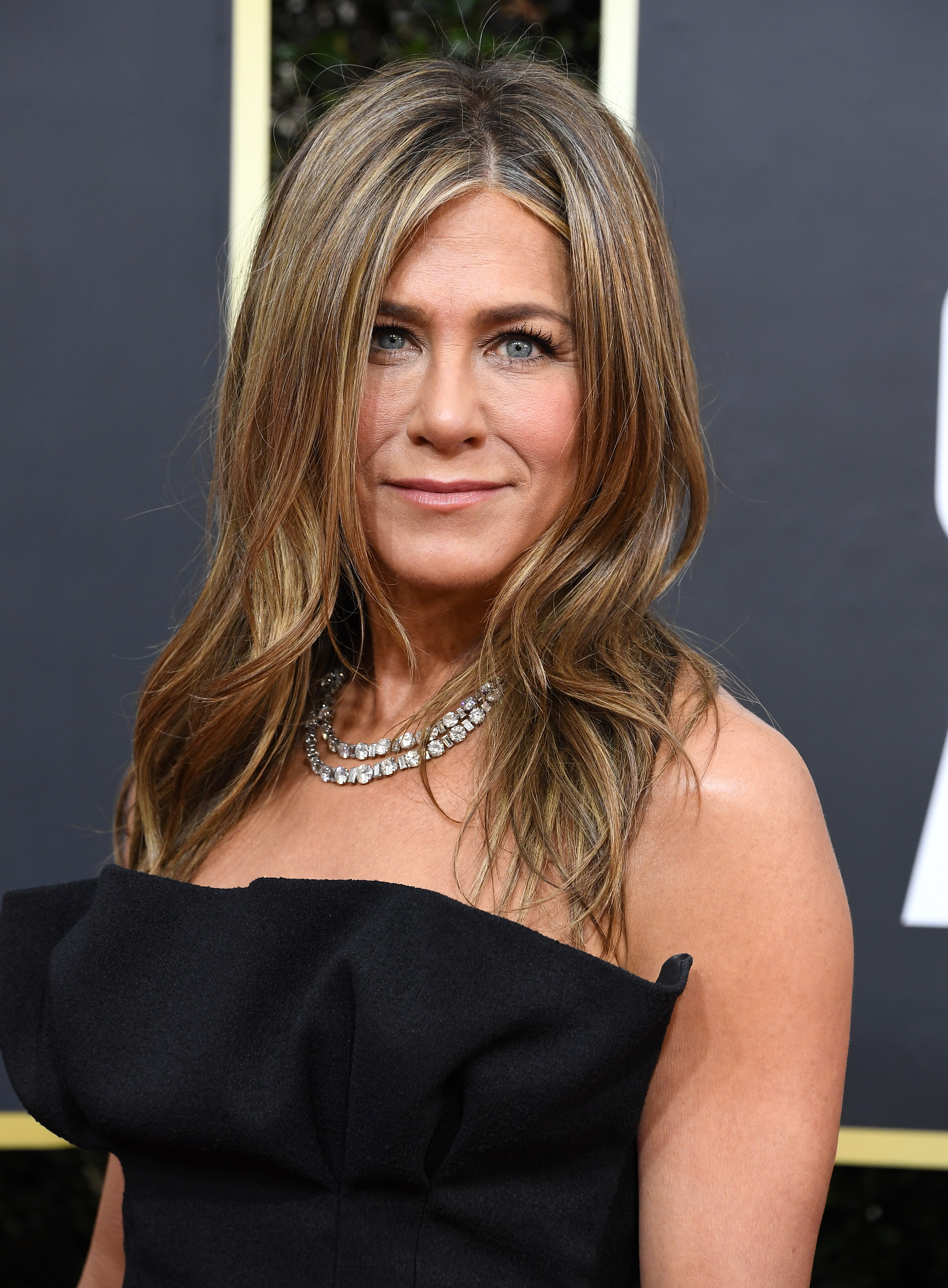 Jennifer Aniston arrives at the 77th Annual Golden Globe Awards at The Beverly Hilton Hotel on January 5, 2020.