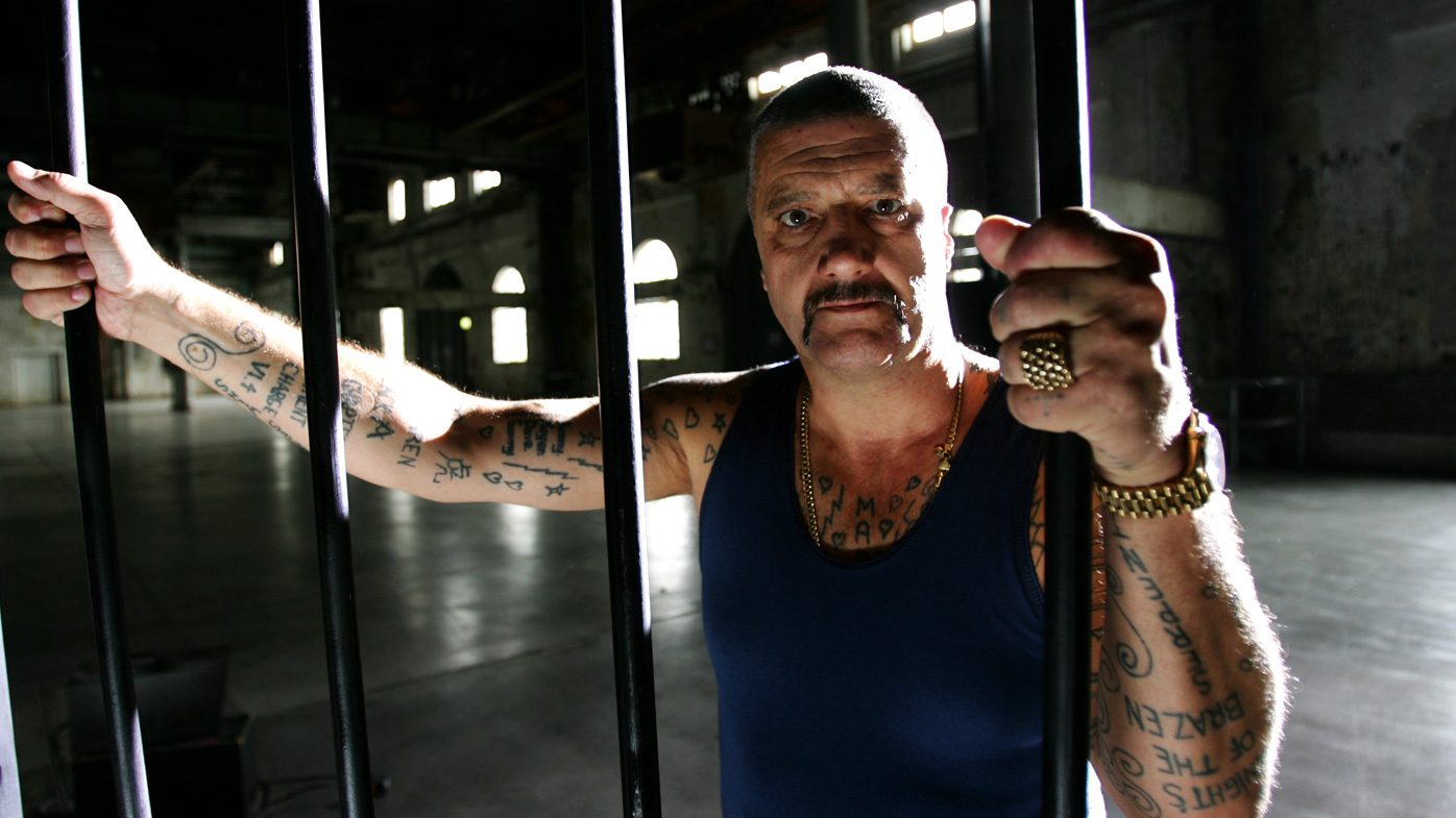 Mark 'Chopper' Reid pictured during a music video shoot in 2013.