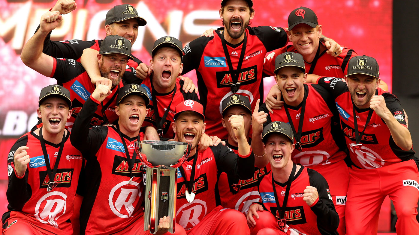 Renegades celebrate their BBL08 victory