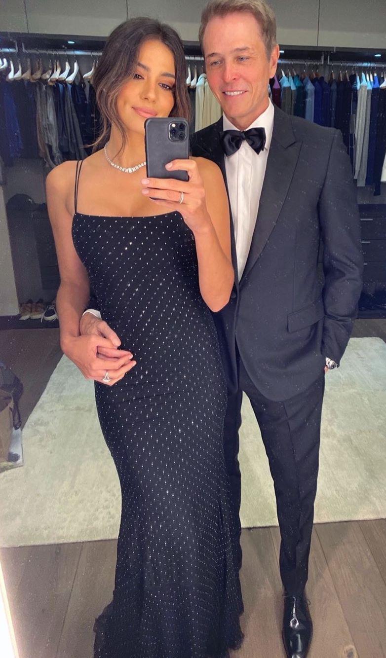 Pia Miller, Patrick Whitesell, engagement ring, photo, Oscars